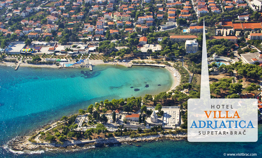 Hotel Villa Adriatica Supetar Brac - Location