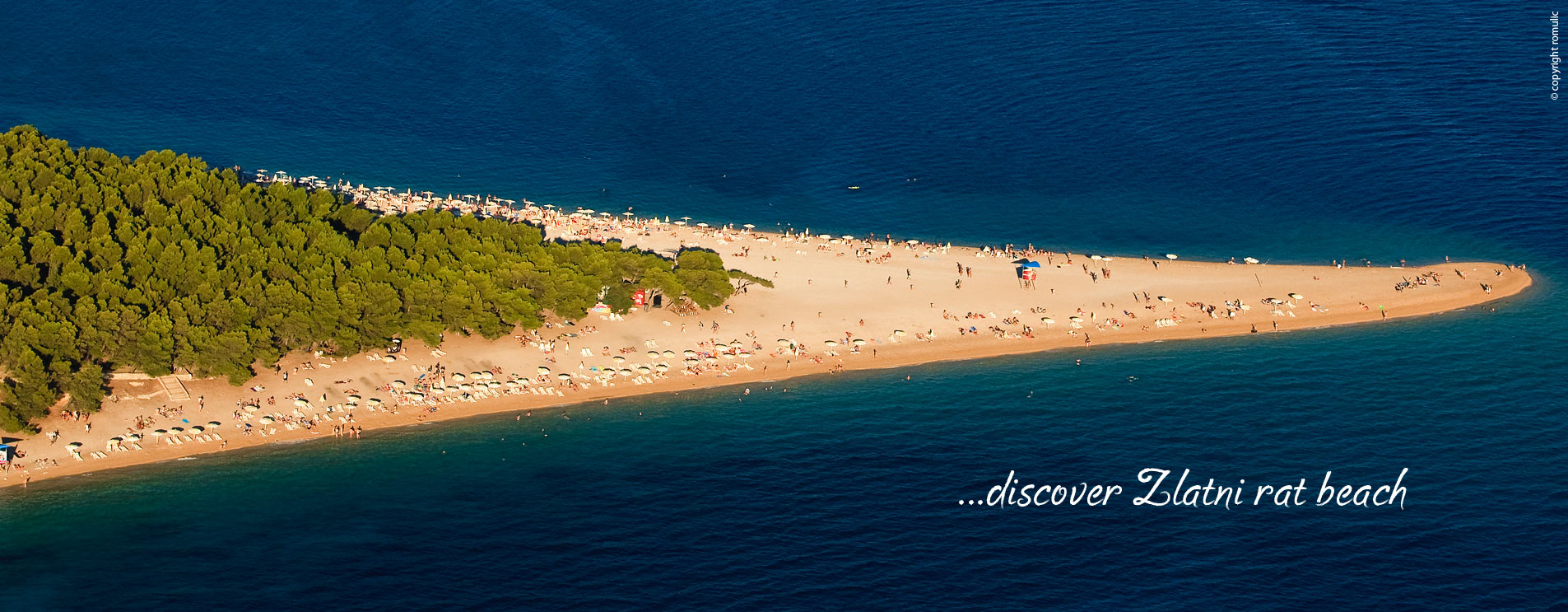 Zlatni rat is one of the most beautiful beaches in Croatia